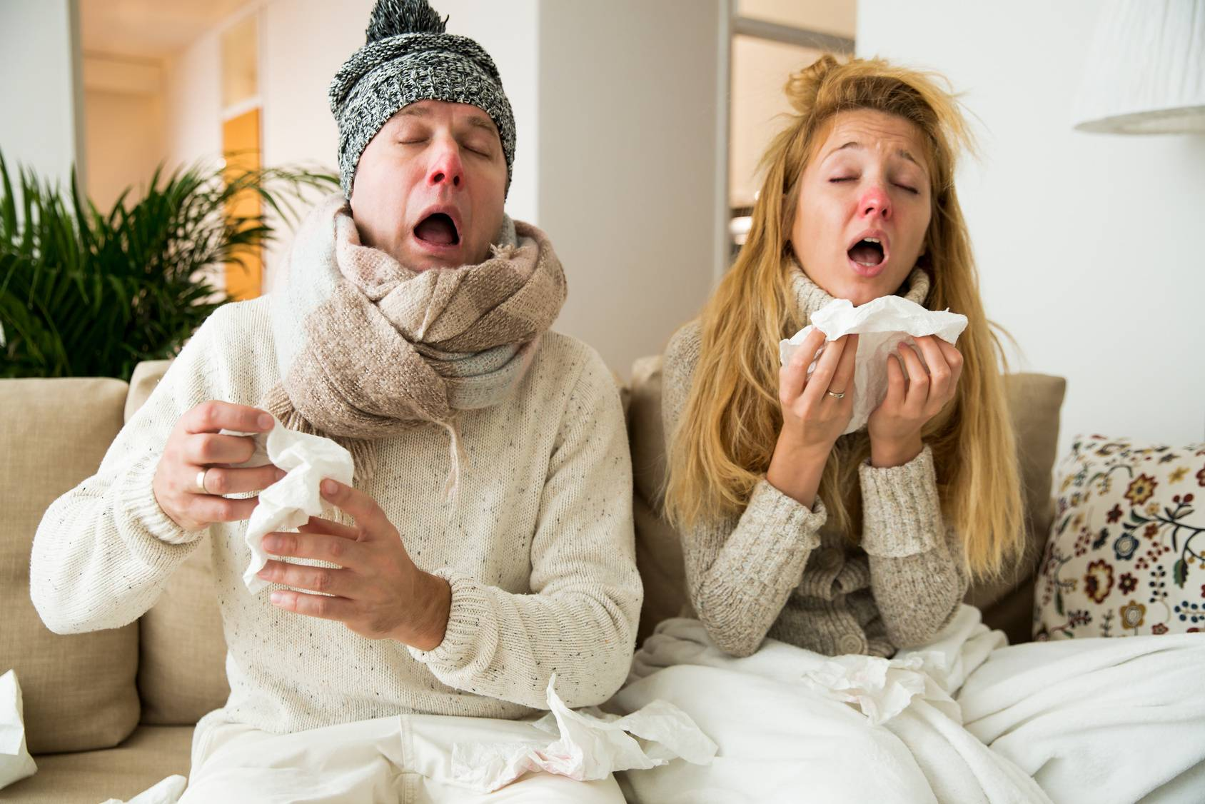 influensa ont i leder