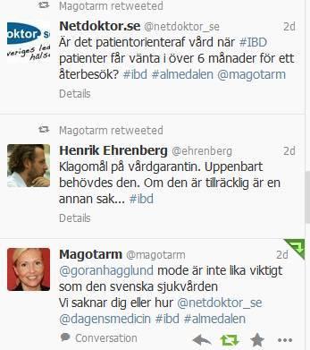 Twitterflöde från #IBD-Semiariet i Almedalen 2013