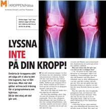 M-magasin om artros och resultat från Netdoktors upplysningskampanj Artroskollen.se