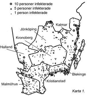 Riskområden för borrelia-smitta från fästingar