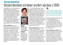 Debattartikel i Dagens Medicin om IBD-vården med statistik hämtad från Netdoktors och Mag-Tarmförbundets upplysningskampanj IBD-koll.se Läs hela debattartikeln här