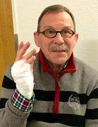 Lennart Norling är nöjd med resultatet efter injektionen.