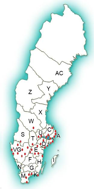 TBE - riskområden för TBE-smitta från fästingar i Sverige