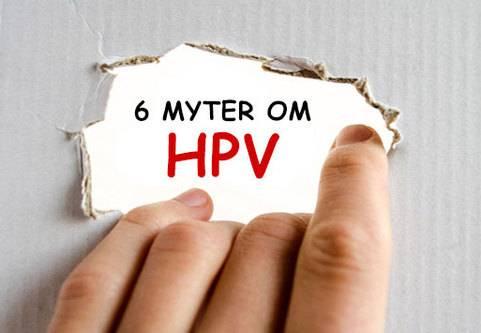 Sex vanliga myter om HPV